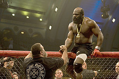 Kimbo Slice Shakes Hands with David Tank Abbott