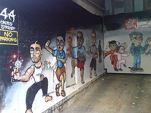 wall art kung fu training